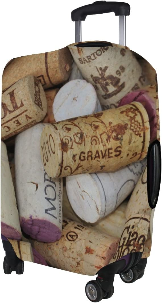 LEISISI Stacked Wine Corks Luggage Cover Elastic Protector Fits XL 29-32 in Suitcase