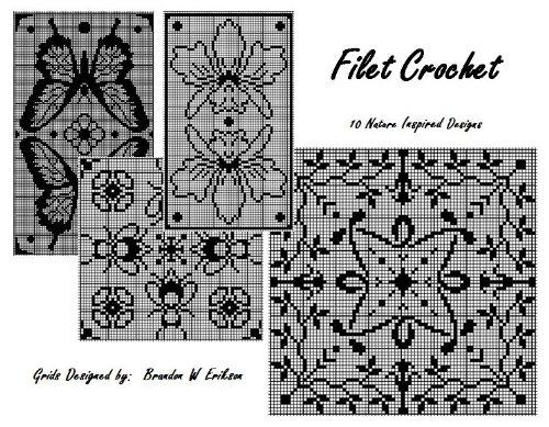 Filet Crochet:  10 Nature Inspired Designs