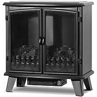 Devanti 1800W Electric Fireplace Heater Portable Wood Fire Log Flame Effect Dual