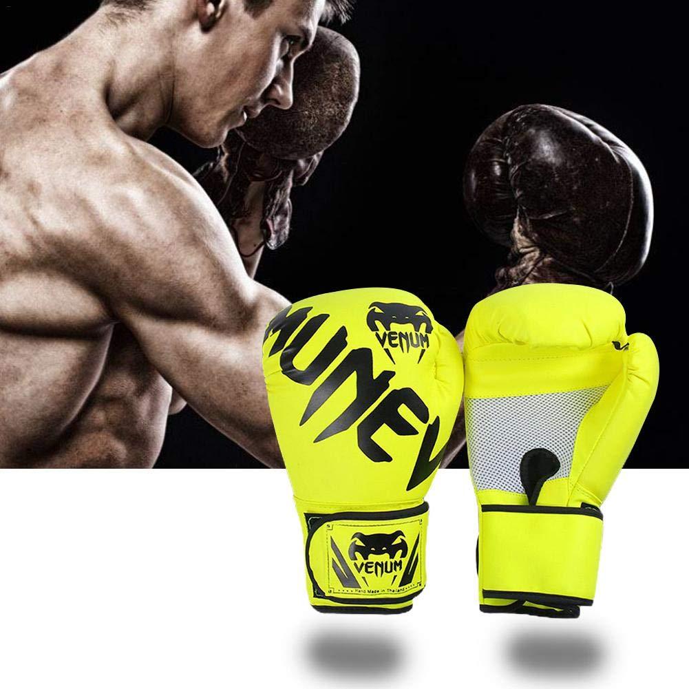 Artes Marciales Guantes De Boxeo para Entrenamiento MMA Sparring Muay Thai Y Kick Boxing Tama/ño Libre Saco De Boxeo Haodene Guantes De Boxeo De Cuero para Hombre Y Mujer