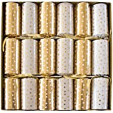 Entertaining with Caspari Celebration Crackers, Gold and White Small Dots, 12-1/2-Inch, Box of 6