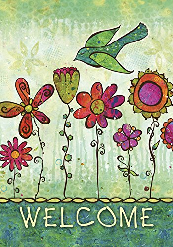 groovy blooms decorative welcome flower