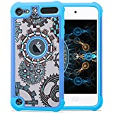 iPod Touch 5th and 6th Gen Case, JoJoGoldStar Hybrid, Slim Fit Heavy Duty Polycarbonate and Silicone TPU Cover...