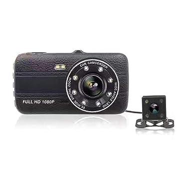 Full HD 1080P Grabadora de Video para Auto Pantalla de 4 Pulgadas con Lentes duales Cámara