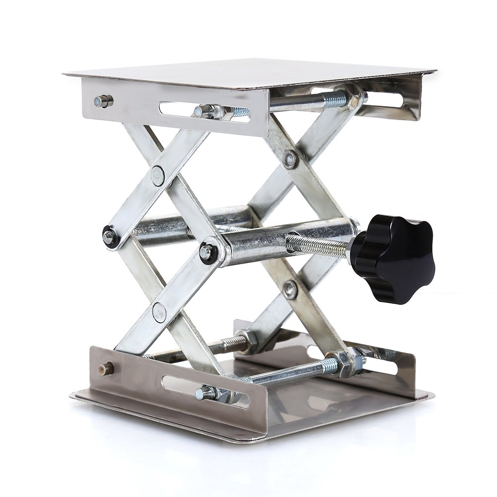 Lab Stand Table Scissor Lift,Stainless Steel Laboratory Lifting Platform Stand Scissor Rack Jack Lab-Lift for Height Adjustment Scientific Lab 100X100mm by Jectse (Image #8)