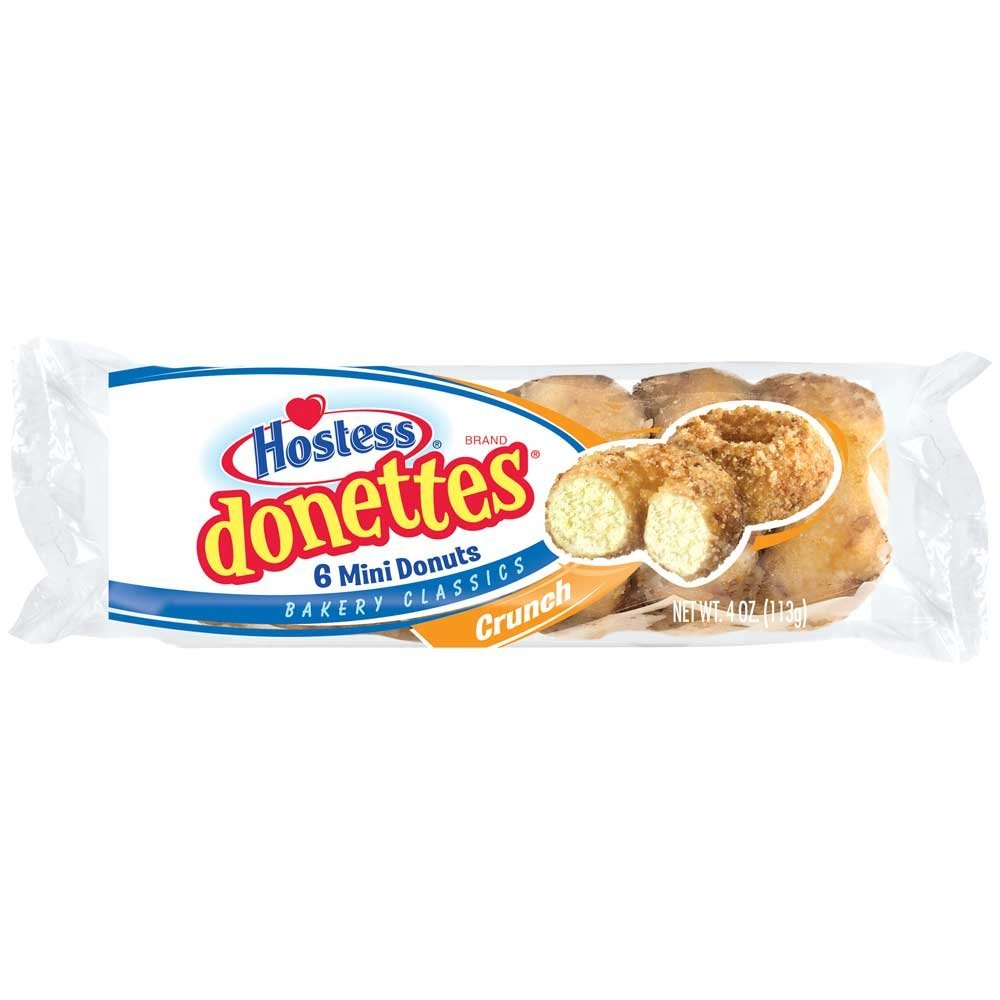 Donettes Single Serve Crunch Mini Donuts, 4 Ounce -- 60 per case.