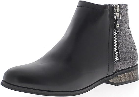 Stivali bassi donna nera tacco 2,5 cm ChaussMoi