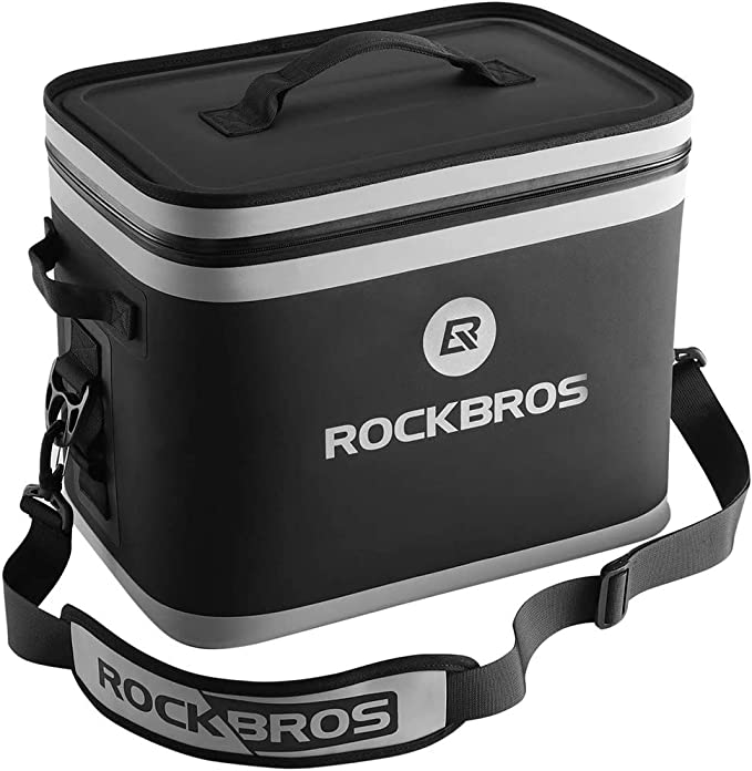 ROCKBROS Nevera Portátil Suave Refrigerador 20L Impermeable para Camping, Pesca, Viaje, Playa, Picnic, Barbacoa, Hogar y Actividades al Aire Libre