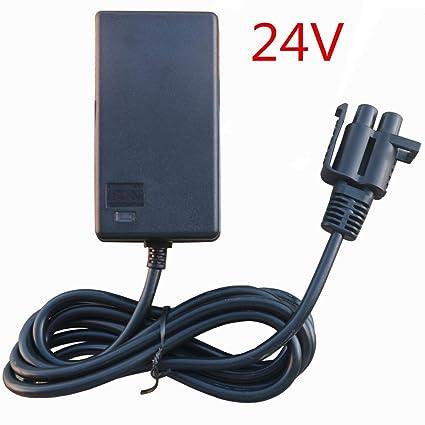 amazon com fulihua 24v b type plug charger for 24 volt gravedigger rh amazon com