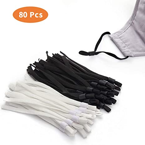 100 Pieces White Color Only White Elastic Ear Straps for Sewing /& Crafting with Adjustable Buckle Stretchy Mask Earloop Lanyard Earmuff Rope DIY Mask Making Supplies