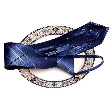 GJFeng - Corbata con Cremallera para Hombre, fácil de jalar, con ...