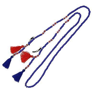 Baosity Cordon à Lunettes de Soleil Mélange de Perles Réglable - Bleu nDiZ8s1ULZ