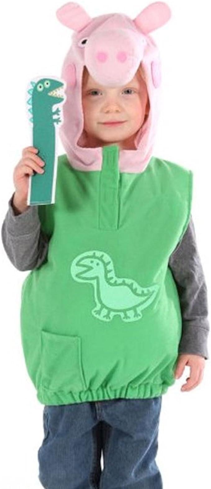 Disfraz infantil de la cerdita Peppa Pig con el dinosaurio George ...