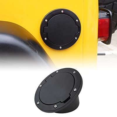 Non-Locking TJ Gas Cap Cover Fuel Door for 1997-2006 Jeep Wrangler TJ: Automotive