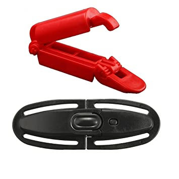 Yingan Baby Car Seat Safety Strap Lock Buckle Child Safe Retaining Clip Red