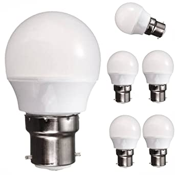 5 x B22 3 W bayoneta KINGSO bombillas LED de color blanco cálido 30 W 3000