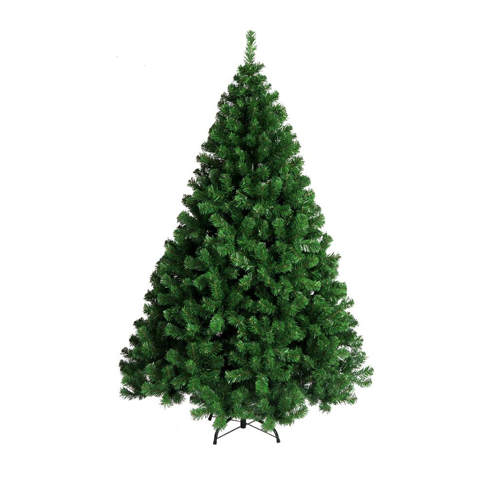 XF Christmas Tree-5 ft-7 ft Artificial Christmas Tree Size Choice Quality Plastic Tree with Tree Stand Xmas Premium Pine Christmas Tree Green // (Size : 210cm)