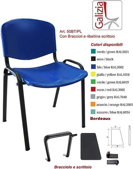 Sedie In Plastica Prezzi.Sedie Impilabili In Plastica Dura Con Ribaltina Scrittoio Per Sala