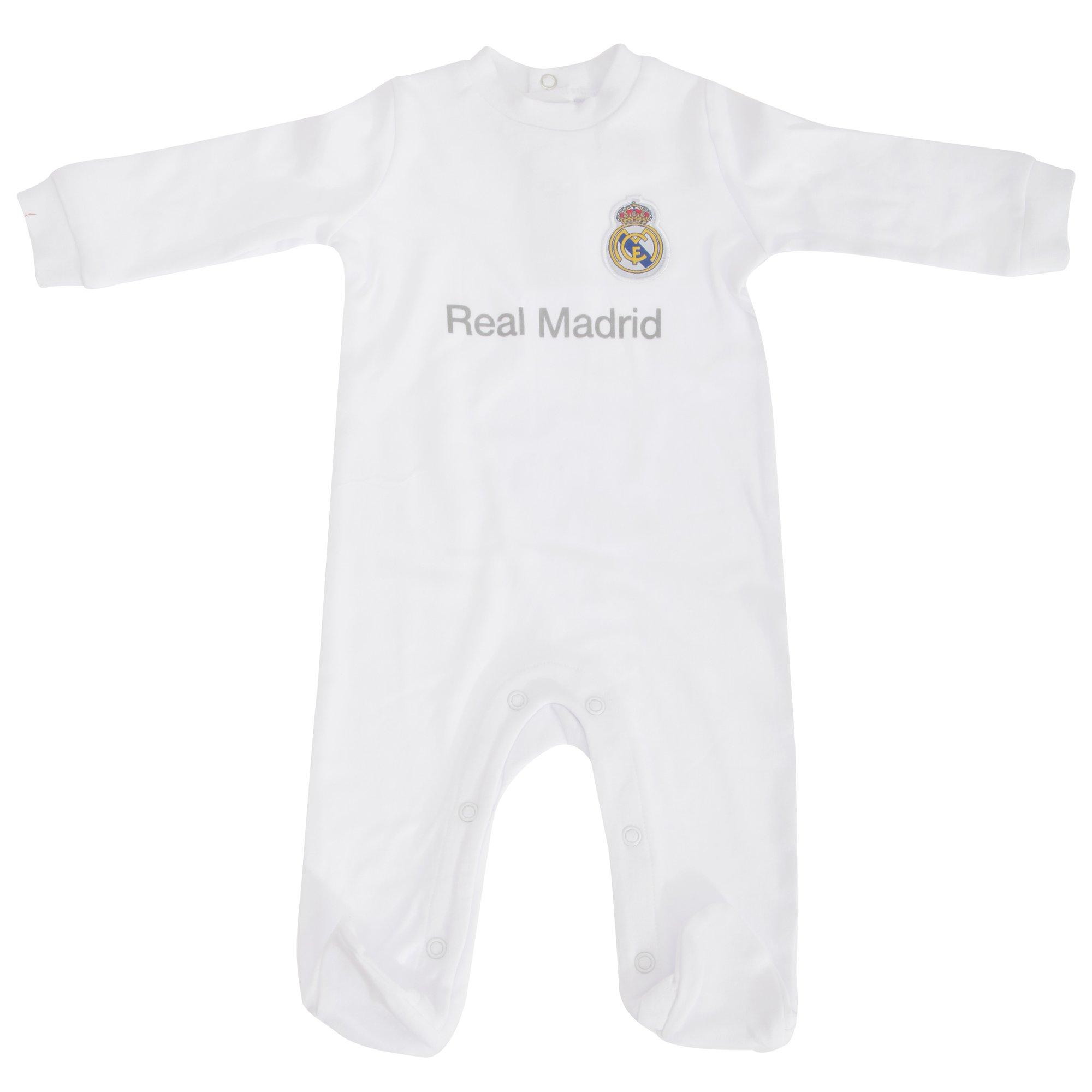 Real Madrid CF Baby Strampler mit Club Wappen (3-6 Monate) (Weiß) Misc. Brecrest B016EWGA6U RM001