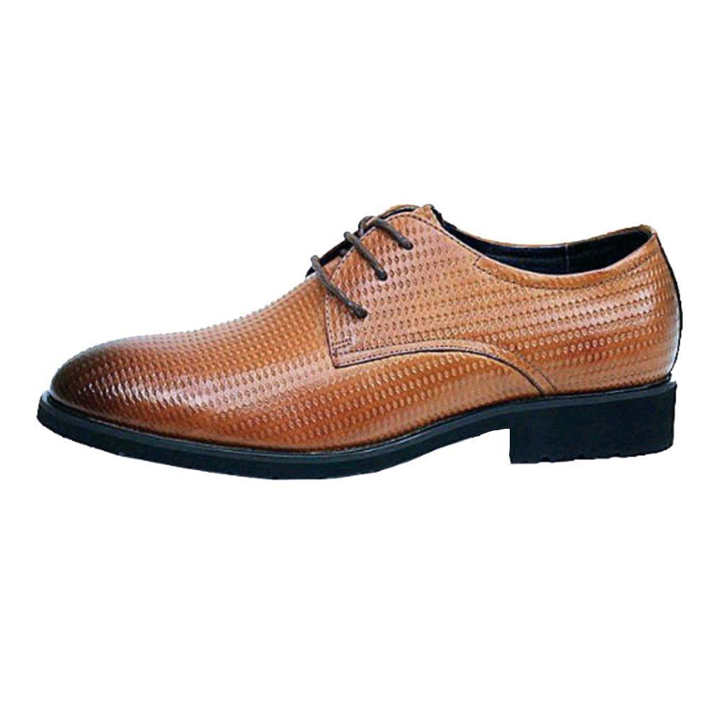 NIUMJ Geschäft Casual Schuhe der Männer Bequeme Atmungsaktive Slip Wear Spitzenschuhe