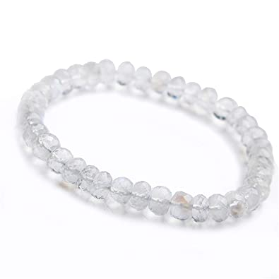 cc209e9cb10 Amazon.com: DUOVEKT 7mm Natural Real Moonstone Bracelet Jewelry for ...