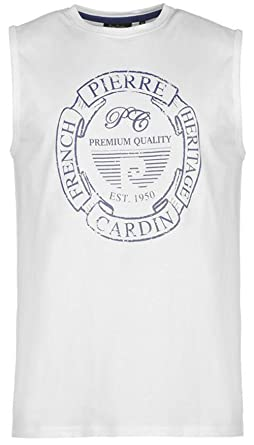 Mens Pierre Cardin Logo Sleeveless T-Shirt Vest