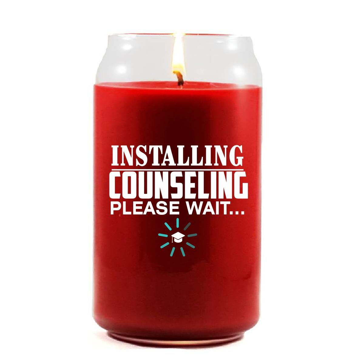 Installing COUNSELING Please Wait College Degree - Scented Candle