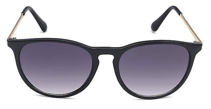 Lunettes de soleil vintage des années 60 dans un style branché avec la mode des temples métalliques couleur bronze lunettes tendances 2014 (schwarz_Verlaufsglas) 5n8WvoW9