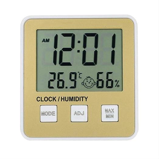 LCD Digital Indoor Thermometer Room Home Temperature Humidity Gauge Meter Clock