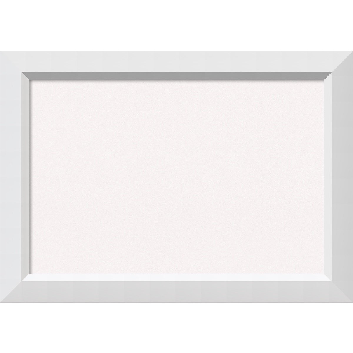 Amanti Art Framed Cork Board Blanco White: Outer Size 28 x 20'', Medium