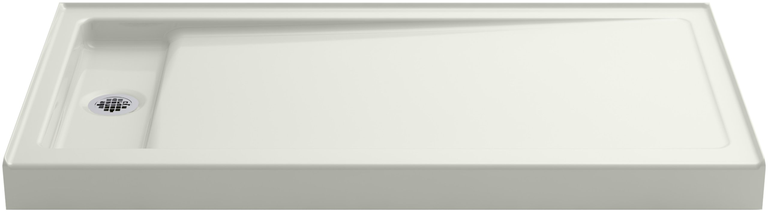 KOHLER K-9165-NY Bellwether 60-Inch x 32-Inch Single-Threshold Shower Base with Left Offset Drain, Dune by Kohler