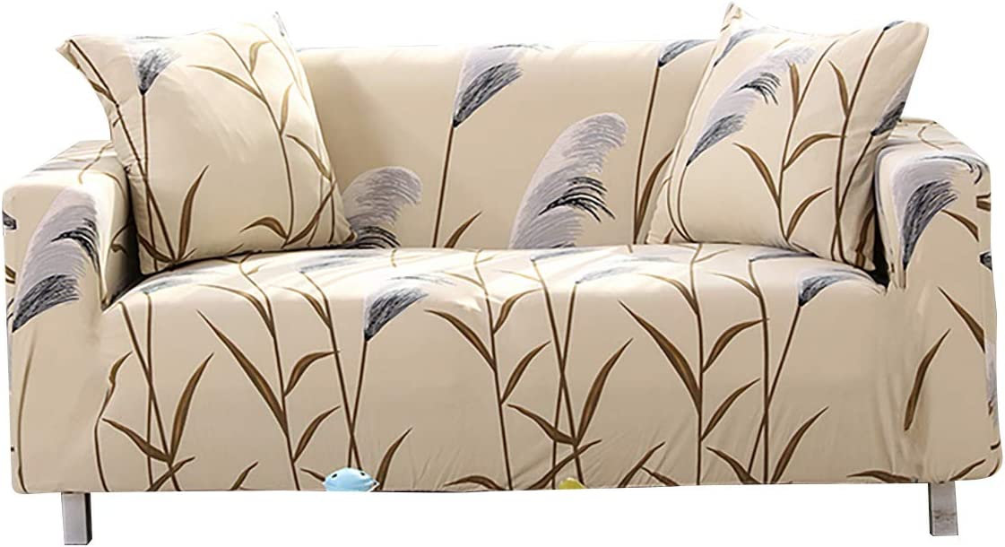 Stretch Sofa Slipcover Floral Printed Sofa Cover for 3 Seater Couch Jacquard Sofa Slipcover with Elastic Bottom for Living Room Dog Pet Furniture Protector (Dandelion, 3 Seater)