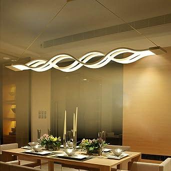 LFL lustre Suspensión LED ajustable, diseño circular Moderno Wavy ...