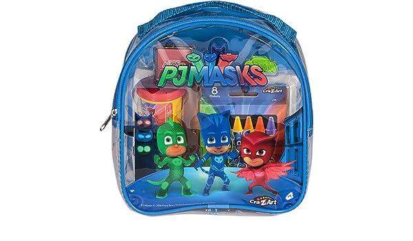 Cra-Z-Art Máscaras de PJ para colorear y mochila de actividades para niños-cojines de dibujo y libros, los colores pueden variar: Amazon.es: Juguetes y ...