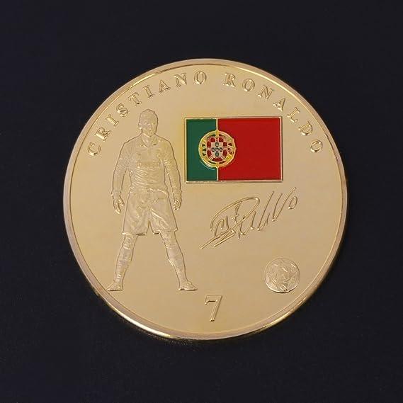 ZJL220 Moneda Conmemorativa Superestrella de fútbol Colección ...
