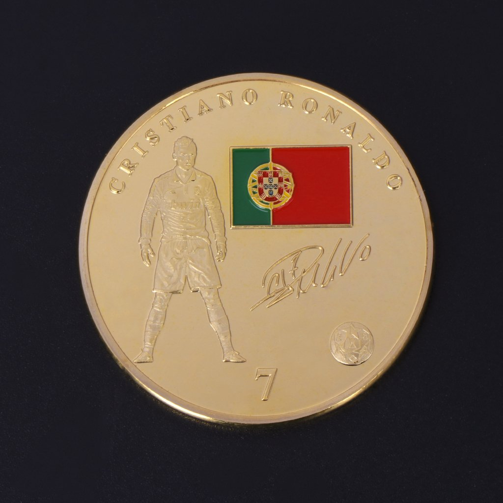 Lamdoo Moneda Conmemorativa Superestrella de f/útbol Colecci/ón Cristiano Ronaldo Recuerdos de Artes