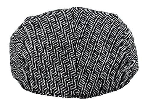 c06a2157007 Men s Classic Herringbone Tweed Wool Blend Newsboy Ivy Hat ...