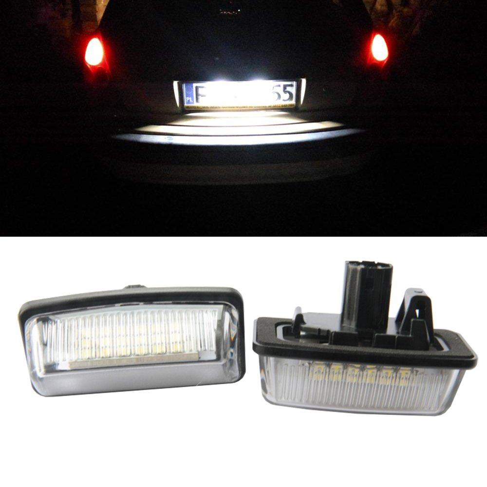 03~09 Toyota Crown NSLUMO Led License Number Plate Lamp For Toyota Crown LED Rear License Plate Light Bulb Assembly Toyota LED License Plate Lights