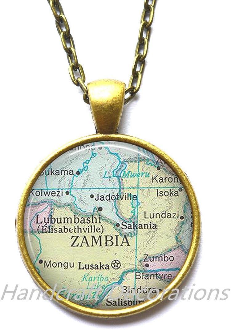 Zambia Necklace Africa map Jewelry,AO219 Zambia Pendant Charming Necklace,Zambia map Necklace Zambia map Pendant
