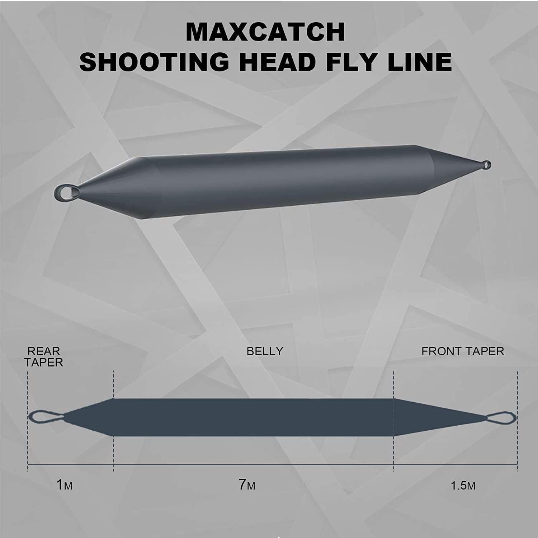 MAXIMUMCATCH Shooting Head Schusskopf Fliegenschnur schwimmend//sinkend 30FT mit Schlaufen Himmelblau//Meerblau SH5F-8F SH5S-8S
