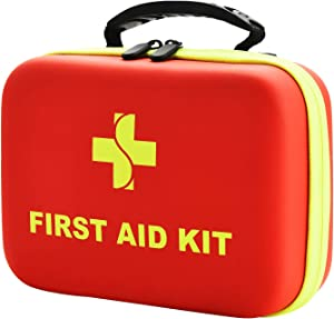 Emergency First Aid Kit for Home - 220 Pieces First Aid Supplies Home Emergency Kit - Lightweight & Compact First Aid Kit with EVA Case - Best for Hiking Camping Travel Car Backpacking School Office
