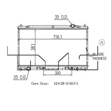 Amazon.com: TYC 13403 Replacement Radiator for Infiniti Q50 ... on