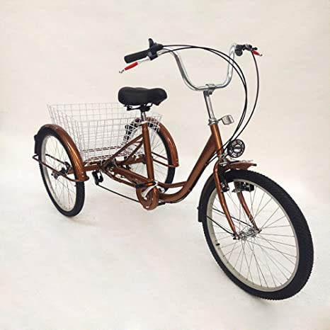 Liandu 246 Velocità 3 Ruote Bicicletta Da Crociera Per Adulti Bici