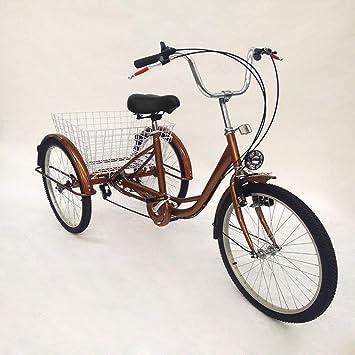 """LianDu 24""""6 Velocidades de 3 Ruedas Bicicleta para Adultos Bicicleta de Crucero Bicicleta Híbrida"""