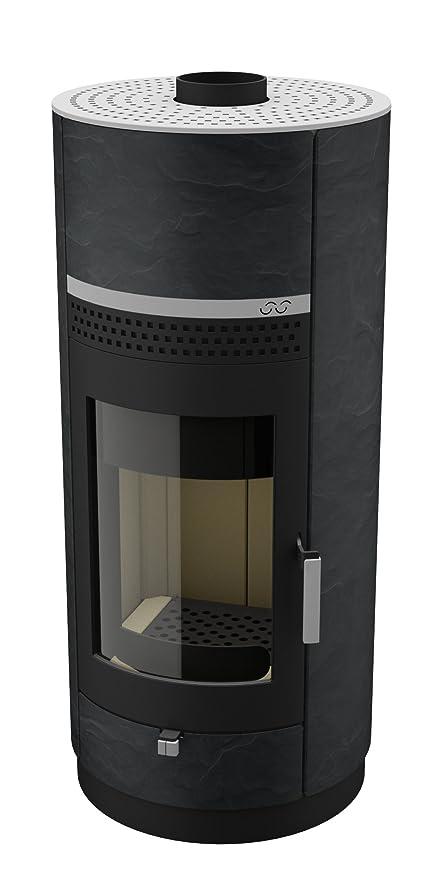 Estufa/horno de leña de madera-estufa Bock. com diseño Stone - Black