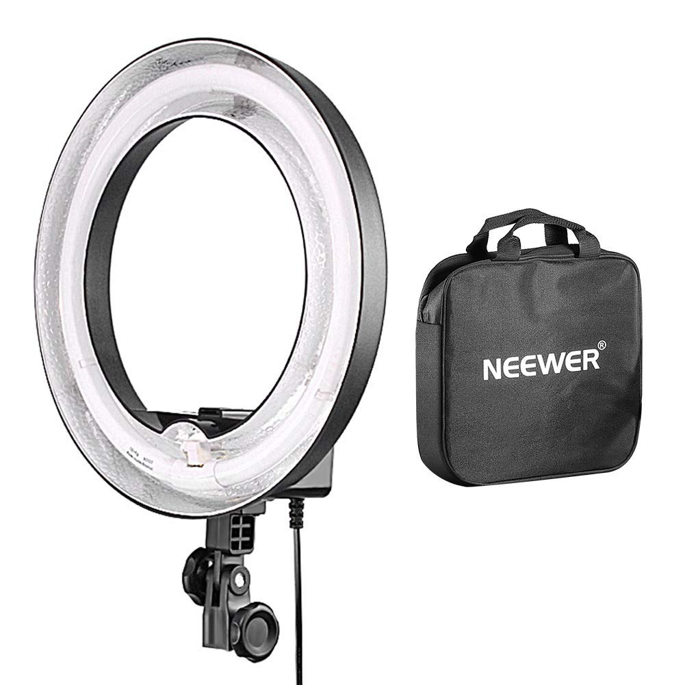 Neewer Camera Photo Dimmable 14 inches/36 centimeters Outer 10 inches/25 centimeters Inner Continuous Lighting Ring Light for Portrait,Photography YouTube Vine Video Shooting,50W(400W Equivalent)5500K by Neewer