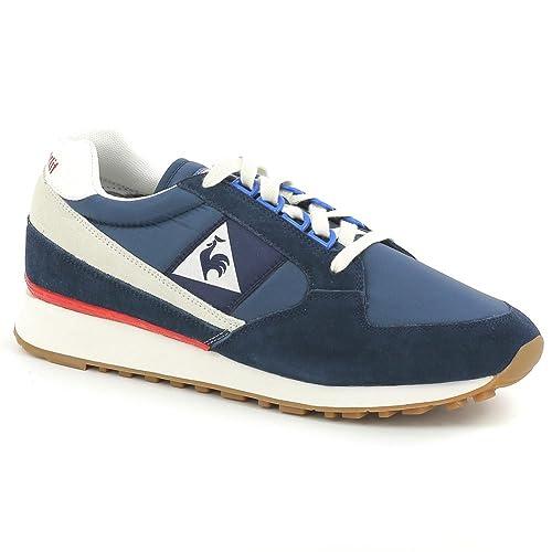 Zapatillas Le COQ Sportif - ECLAT Nylon Gum Azul/Beige/Rojo: Amazon.es: Zapatos y complementos