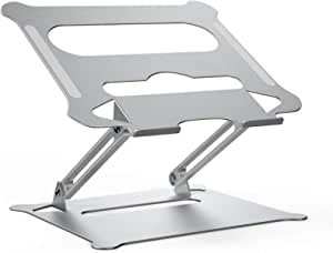 Laptop Notebook Stand, Foldable AdjustableMulti-Angel Laptop Rack Aluminum Laptop Riser Ergonomic Desktop Holder for Tablets, Ipad, Notebook, MacBook Up to 43cm (Large)