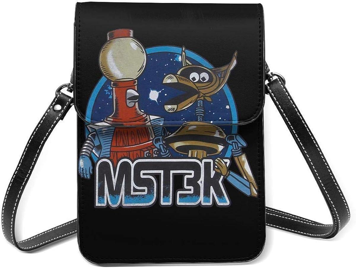XCNGG Mystery Science Theatre Bolso bandolera para teléfono celular - Bolso multicolor de cuero Pu para mujer con correa ajustable
