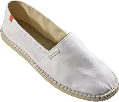 61cd39848f7ed Havaianas Origine II Womens Canvas Espadrille Shoes White - UK 2   BR 33   EU  35  Amazon.co.uk  Shoes   Bags